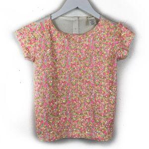 Crewcuts | Sequin Tee T-Shirt Knit Top Girls 8